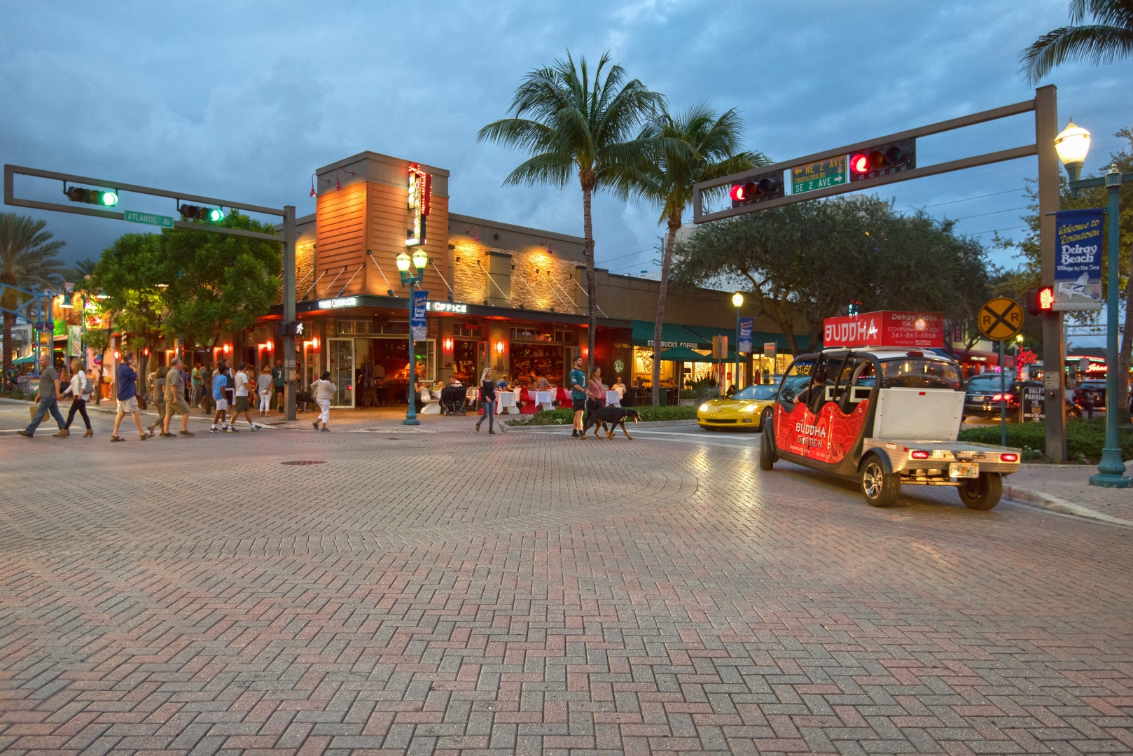 Late Night Downtown Delray Beach